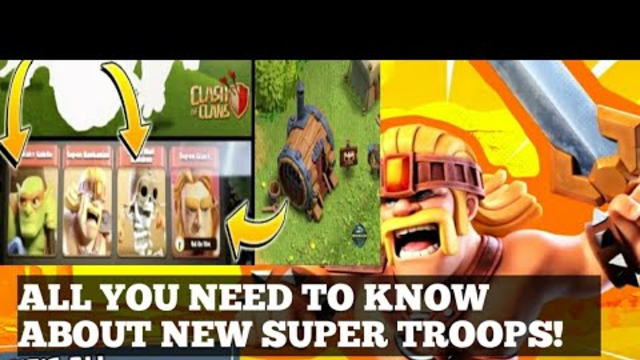 NEW SUPER TROOPS INFORMATION||SPRING UPDATE||CLASH OF CLANS