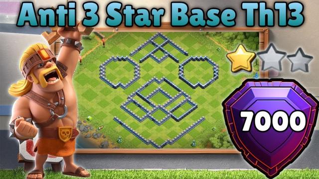 Th13 Anti 3star Base 7000+ Trophy clash of clans
