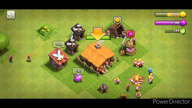 Clash of Clans Gameplay!!!Building to townhall 2!!!Maks elixir??!!!