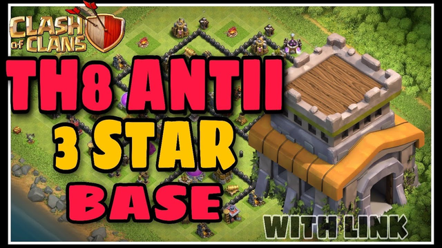 TH8 ANTII 3 STAR BASE | LEGENDARY BASE | WITH LINK | CLASH OF CLANS