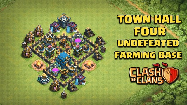 Undefeated Town Hall 4 (TH 4) Farming Base !! [ TH4 Defense ] - Clash Of Clans | 2020