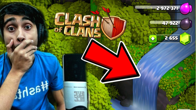 Waterfall In COC! Clash of Clans......