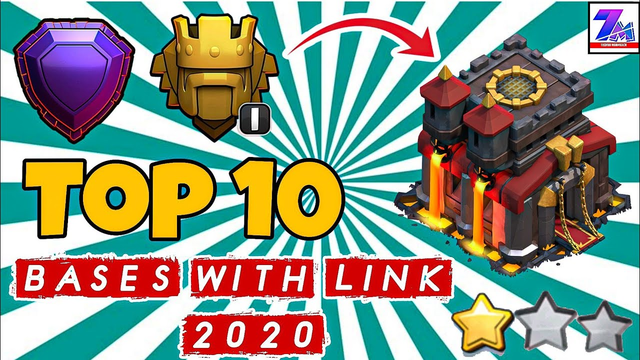 Clash Of Clans | Th10 Best Trophy Pushing Bases | Top 10 TH10 Best Bases With Links ( 2020)