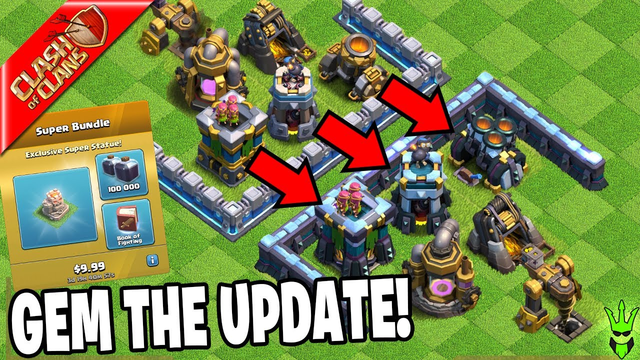 GEMMING THE SPRING UPDATE 2020! - Clash of Clans