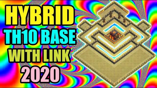Best Th10 Hybrid Base Layout 2020   Trophy/Farming Base   Clash Of Clans
