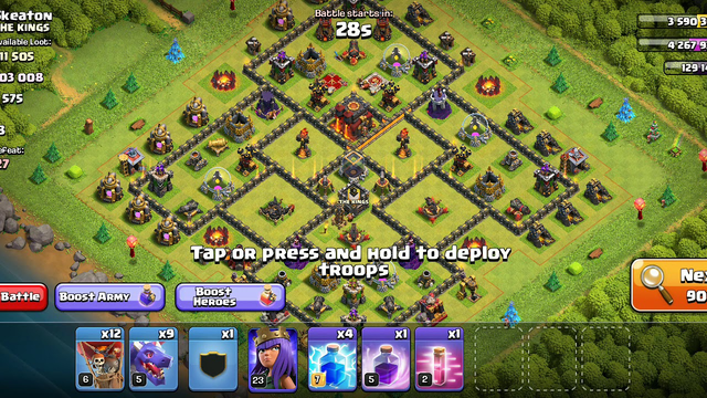 Clash of clans town hall 10 attack