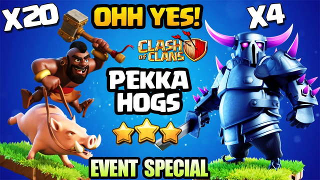 Swagged Th10 Pekka Hog Attack for 3 Star - Th10 Beginner ? Low Heroes ? Use This Attack Strategy COC