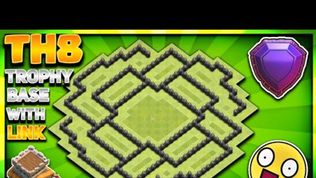 """UNSTOPPABLE!"" TH8 TROPHY/FARMING BASE DESIGN WITH COPY LINK 2020 - Clash Of Clans"