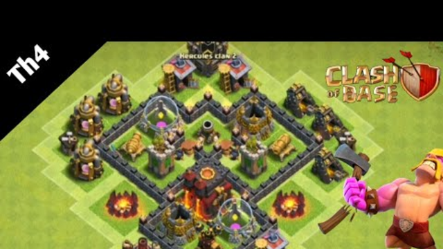 NEW BEST Town Hall 4 (TH4) Base 2020 - Clash of Clans