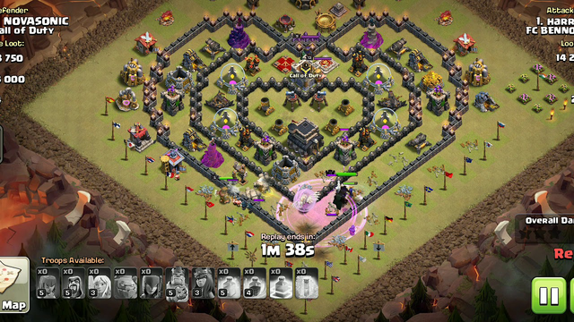 Clash of Clans/ Town Hall 9 strategic defence against golems