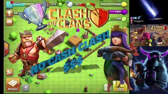 Clash of Clans...THE START - TH1/2 - NO CASH CLASH