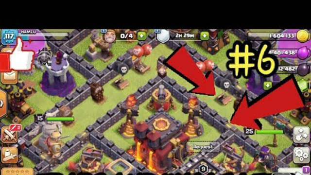 Clash of Clans :#7  Walls and traps left   All defenses Max.