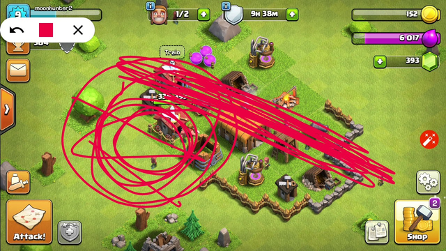 Clash of clans town hall 2 and 7