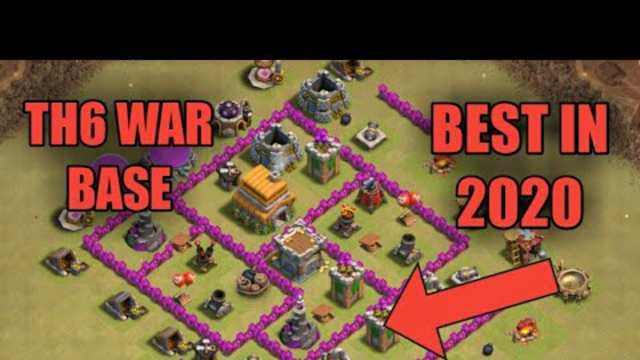 NEW TH6 WAR BASE 2020 ANTI 3 STAR - Clash of Clans
