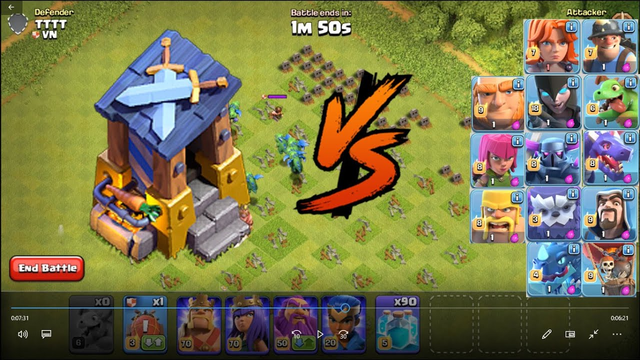 CoC Magic    Destroy entire defenses with all troops