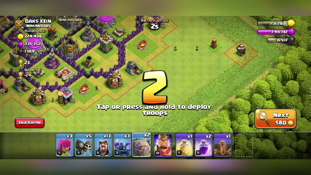 GOWIPE ATTACK ON TH8   CLASH OF CLANS   TH8