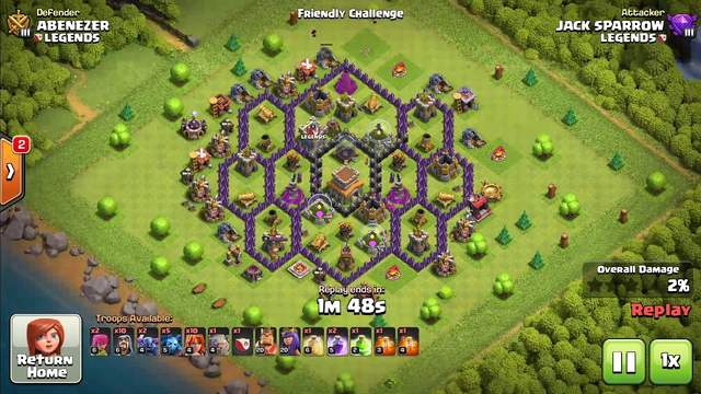 Clash of clans town hall 8  part 2