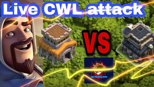 TH8 VS TH9 Live CWL Attack....Clash Of Clans