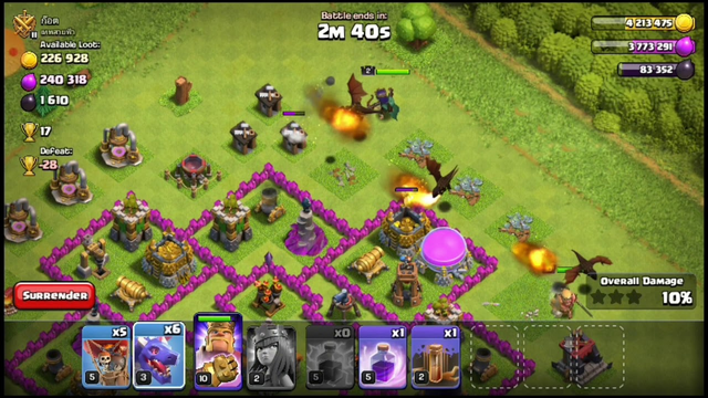 Town Hall 8 Drag Loon Attack Strategy   Clash of Clans