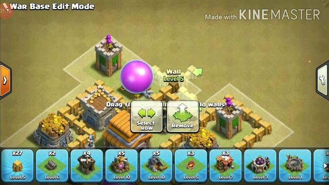 Town Hall 5 Base Tutorial | Clash of Clans | Rhyan