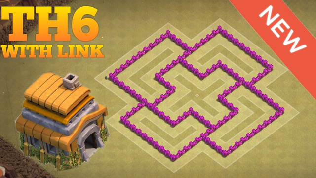 Clash of Clans   New Th6 War Base Layout w/LINK   Clash of clan base