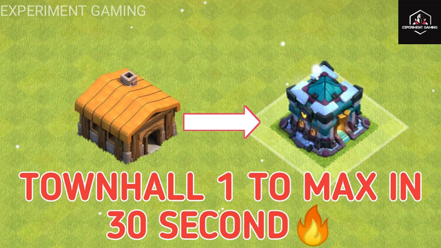 TOWNHALL 1 TO MAX IN 30 SECOND ||#COC