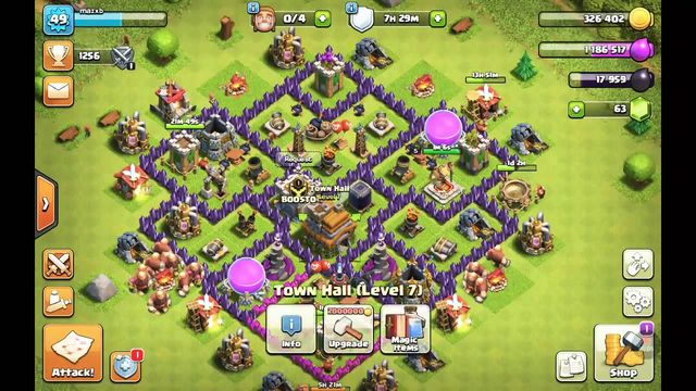 Some replays of a th7 clash of clans account (probably want to put volume up to 80 to hear sorry)