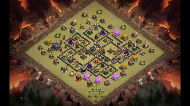 New Best Th9 War Base Layout 2020.Tested in CWL & War.Defense against Th10 Attack (Clash of Clans:)