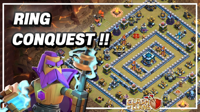TH13 Ring Base Conquest !! TownHall13 Attack 3Star Strategy Clash of Clans COC [#9]