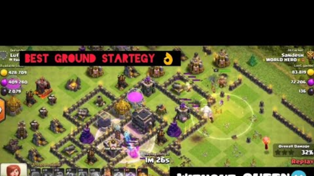 THIS IS HOW U ATTACK A MAX TH9 | WITHOUT QUEEN | CLASH OF CLANS | BEST GROUND STARTEGY!!