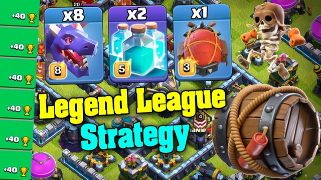 Dragon Clone are INSANE at TH13 | The Best Legend League Strategy | Legend League 3star TH13 | COC