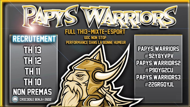 CLASH OF CLANS | LES PAPYS WARRIORS RECRUTENT!!!!!