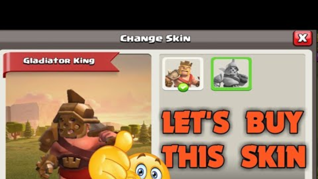 LET'S BUY GLADIATOR KING SKIN WITH GEMS  IN CLASH OF CLANS||CLASH OF CLANS INDIA