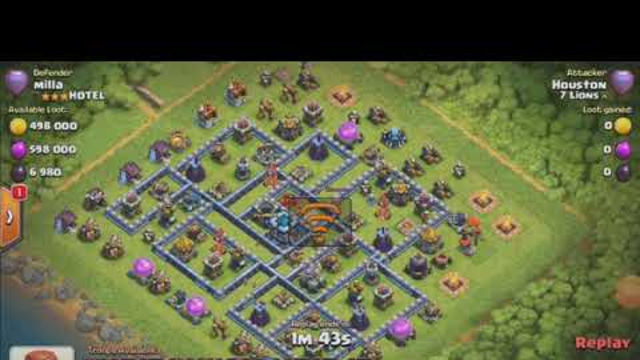 Clash of clans Max 13town hall 3ster attack