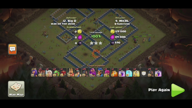 CWL | Comeback Laloon Queen Walk, and Miner Hogs 3 Stars Th13 Clash of Clans