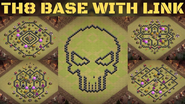 TOWN HALL 8 BASE WITH LINK ! TOP TOWN HALL 8 BASE WITH LINK ! Town hall 8 Clash of Clans