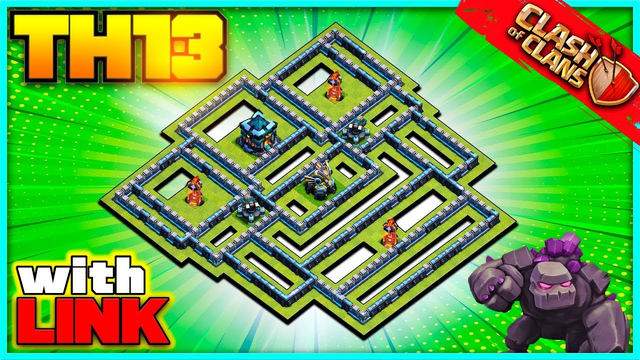 *FNATIC* NEW BEST TH13 War Base - CoC TH13 Base - Town Hall 13 Clash of Clans