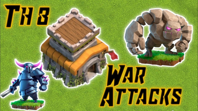 TH8 War Attacks || Clash of Clans