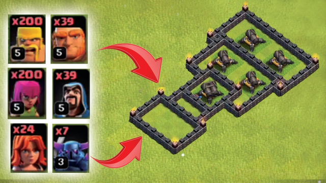 Clash Of Clans -  Defense Comparison - All TH8 Ground Troops VS TH9 Level 11 Cannon Who Will Win ?
