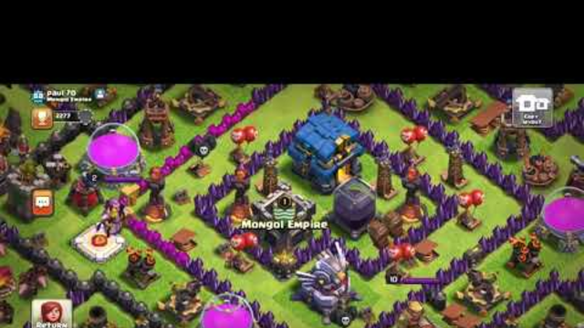 Return Gameplay, Clash Of Clans(no Audio Sorry)