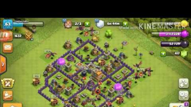 clash of clans Town Hall 7.         ( time fail attack)
