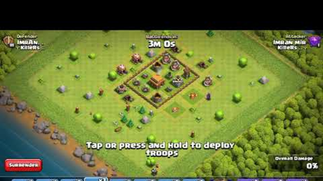 Level 6 peeka Vs Town hall 3 Max defence!!  Amazing!! Clash of clans..!  Techno Gamers...