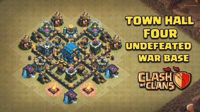 Undefeated Town Hall 4 (TH 4) War Base !! [ TH4 Defense ] - Clash Of Clans | 2020