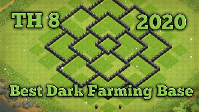 TH 8 Best Dark Elixir Farming Base - Clash Of Clans
