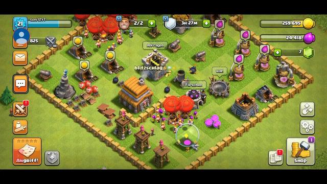 Mein erstes Mal video auf clash of Clans