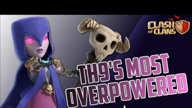 Clash of clans(COC) TH9 ULTIMATE attack strategy||WITCHSLAP||powerful strategy