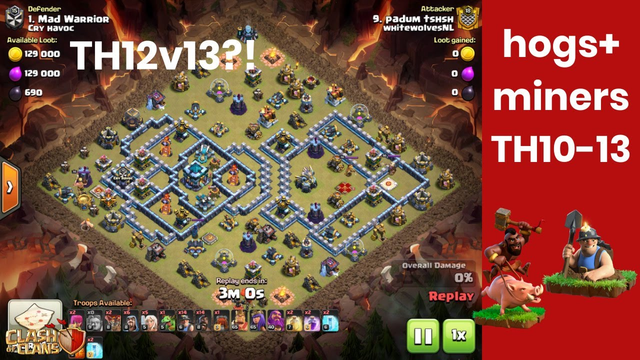 HYBRID STRATEGIE | STRONG FROM TH10-13 | TIPS AND TRICKS | CLASH OF CLANS