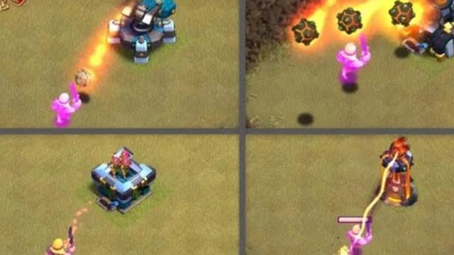 Max Super barbarian VS All defenses ll Clash of clans ll
