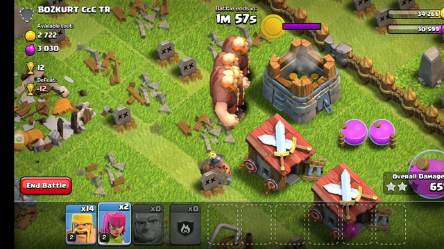 Clash of clans gameplay part 2 upgrading townhall to level 4
