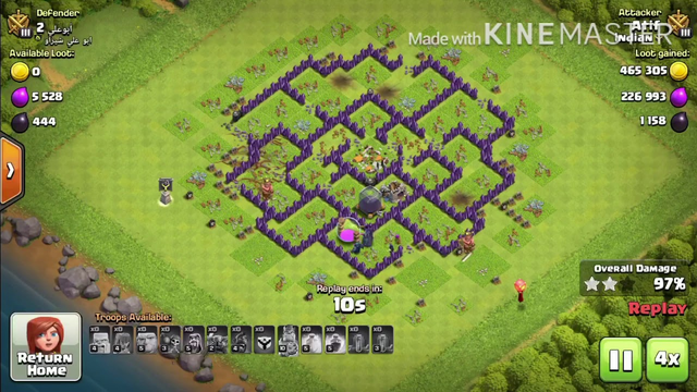 Best Town Hall 8 attack strategy for loot | Clash of Clans | Replays | 3 Star | Huge Loot |